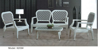 Lover seat dining chair with table Hotel living room furniture set rattan dinning set
