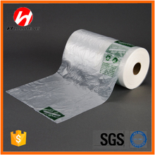 Hdpe Clear Plastic Flat Food Bag on Roll with Pringting