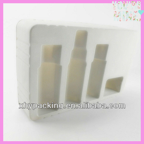 New design high quality PVC/PET/PP/PS material plastic flocking blister tray