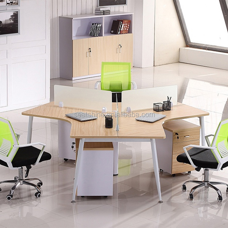 Modular Office Workstation Desk for 3 and 6 Person