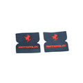 Popular epoxy rubber microfiber labels embossed logo label patches for clothing