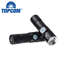 Mini Torch USB Chargeable LED Flashlight Multifunctional Portable Emergency Light