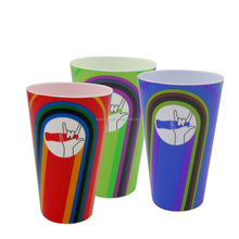 350ml colorfull wholesale plastic beer joyshakers cups for sale