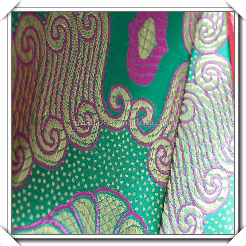 100% polyester jacquard brocade for women clothing fabric