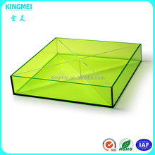 Modern style counter top acrylic tray for fruits, plexiglass cupcake display stand