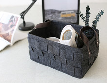 Customized size practical reusable felt storage basket