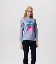 Sws0056 Hot Sale owl Digital printing women cashmere sweater