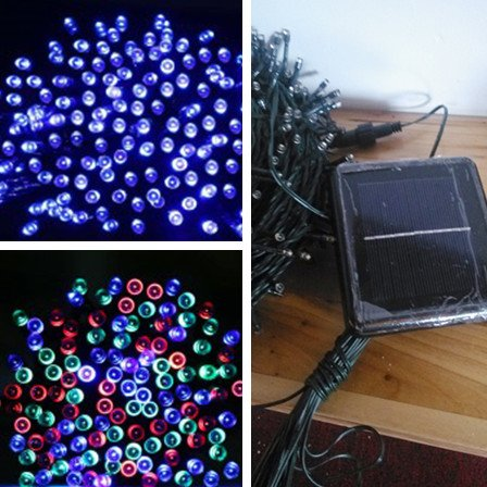 22m 200led CE ROHS cetificited Outdoor Solar christmas string Lights led christmas solar decoration light