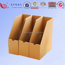 Recyclable magazine file cardboard paper box Eco-friendly pracrical box