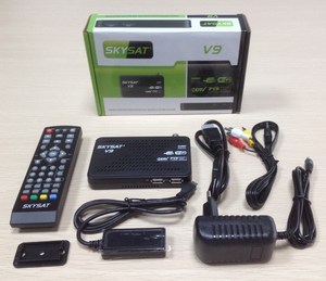 HD Mini Mpeg4 DVB S2 Digital Satellite TV Channels Decoder V9