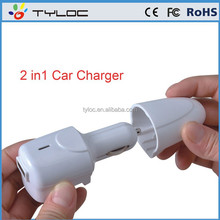 multifunction car charger adapter,wall and car charger with led for HTC/SAMAUMG/IPHONE