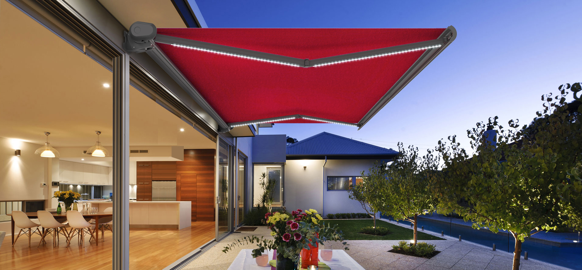 Full Cassette Balcony Motorized Roof Waterproof Outdoor Sun Shade Rain Electric Aluminum Window Terrace Retractable Awning