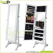 Goodlife makeup organizer box with Floor standing+wall mount+hung over the door three functions