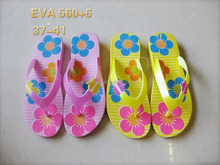 Girl leisure EVA slippers shoe manufacturer wholesale blank flip flops bamboo slippers shoes Q182