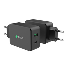 2 ports usb home travel power adapter charger with qualcomm quick charge 3.0 technology