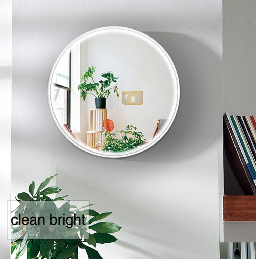 LED Wall Mirror, 16.7 inch Diameter Makeup Mirror,JZY Vanity Lighted Mirror for Bedroom with 2 Dimmer Modes by Touch Sensor