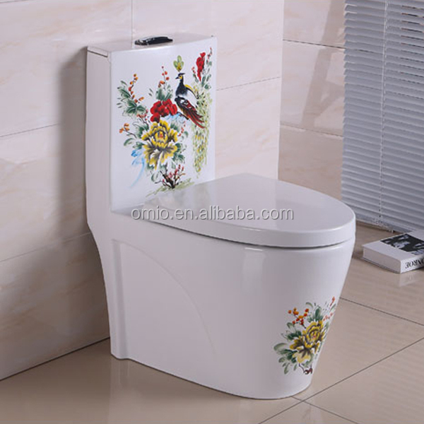 Modern design chiese style color wc toilet luxury bathroom toilet