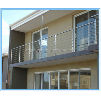 Free sample balcony stainless steel railing design for for Stainless steel balcony