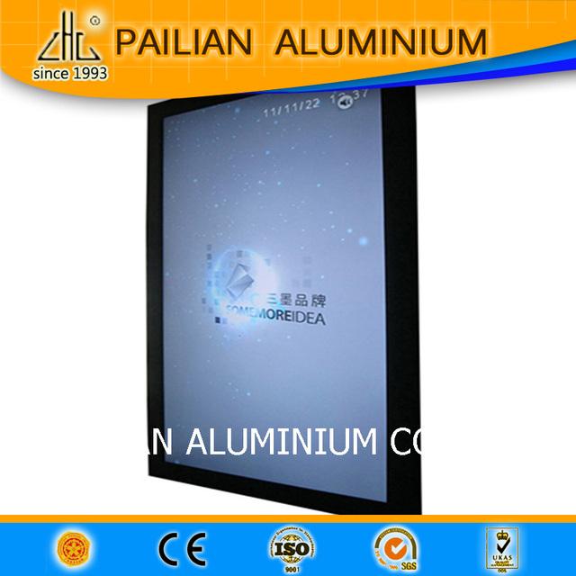 Electrophoresis aluminum profile for flex face light box,alloy advertising aluminum frame led lighted box