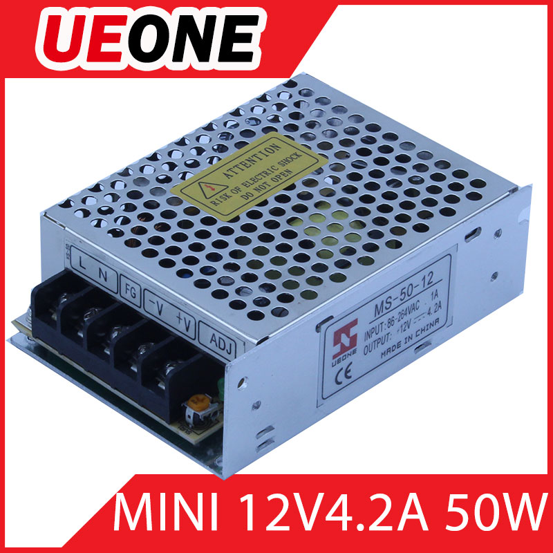 CE RoHS Universal AC Input 20W 5V Power Supply MS-50-12