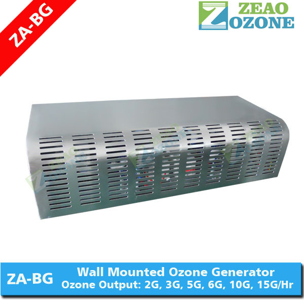 Wall mounted air cleaning ozonator for poultry sterilization