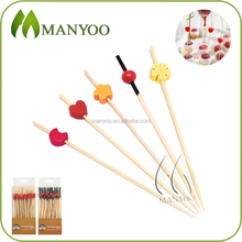 Hot selling cocktail/appetizers decorative beaded bamboo skewers for party
