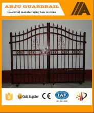 China Factory Durable Decorative Steel main gate design AJ-GATE001