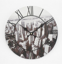 Morden MDF wooden wall clock