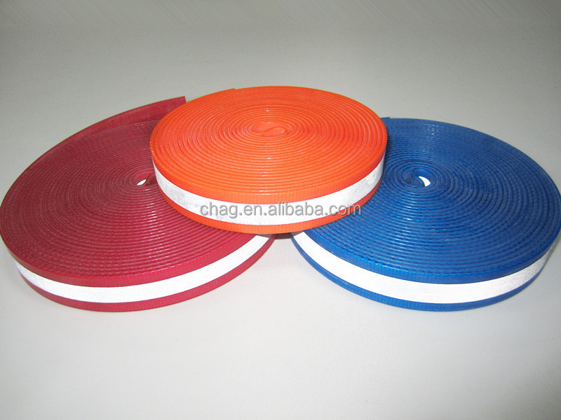 Tpu Coated Webbing With Reflective Patches For Pet Collar And Leash