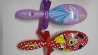 kids18cm heat transfer printing decorative hair brush