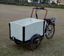 Bakfiets Road Bicycles Electric Cargo Tricycle With Disc Brakes Cabin