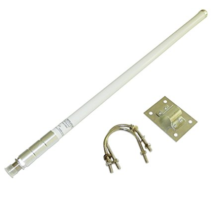 High Gain 2.4GHz Fiberglass <strong>Antenna</strong> WIFI OMNI-Directional Waterproof <strong>Antenna</strong> Outdoor White