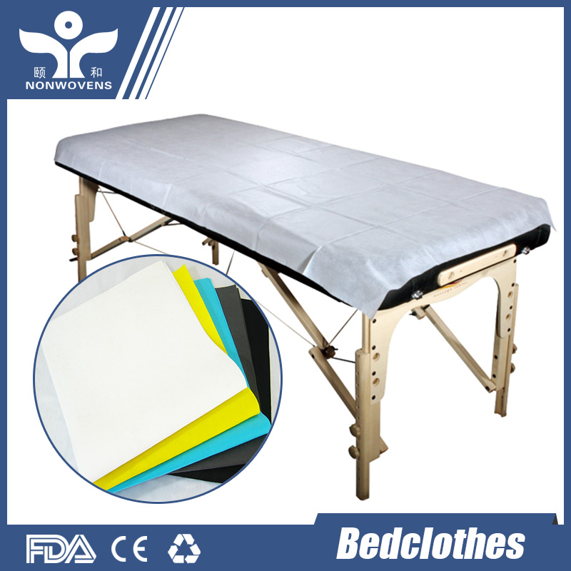 Whole disposable non woven fabric bed sheets perforated every 80cm