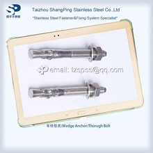 stainless steel 304 316 expansion sleeve anchor fastener, inox wedge anchor bolt