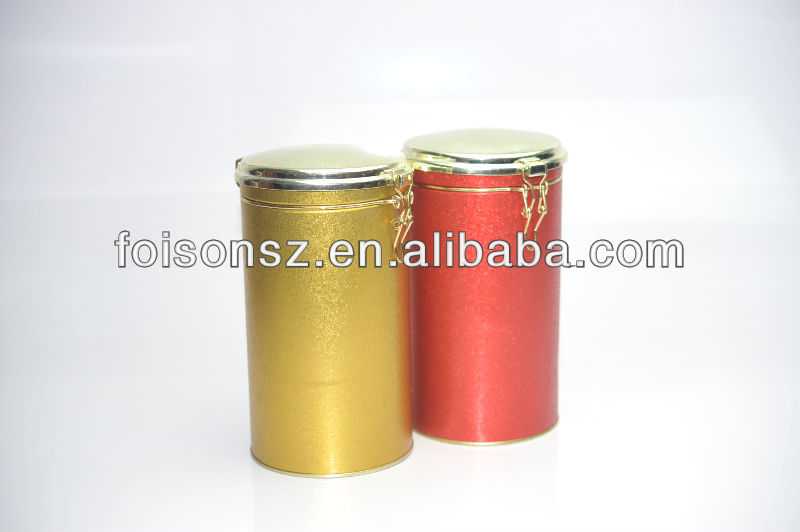 round tin case with transparent lid in crystal finishing