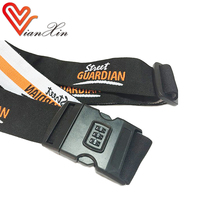 Custom made polyester embroidery luggage strap, luggage belt