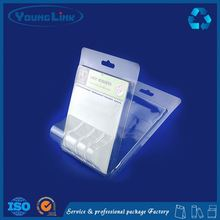 China custom transparent pvc material clamshell blister packaging foldable blister tray