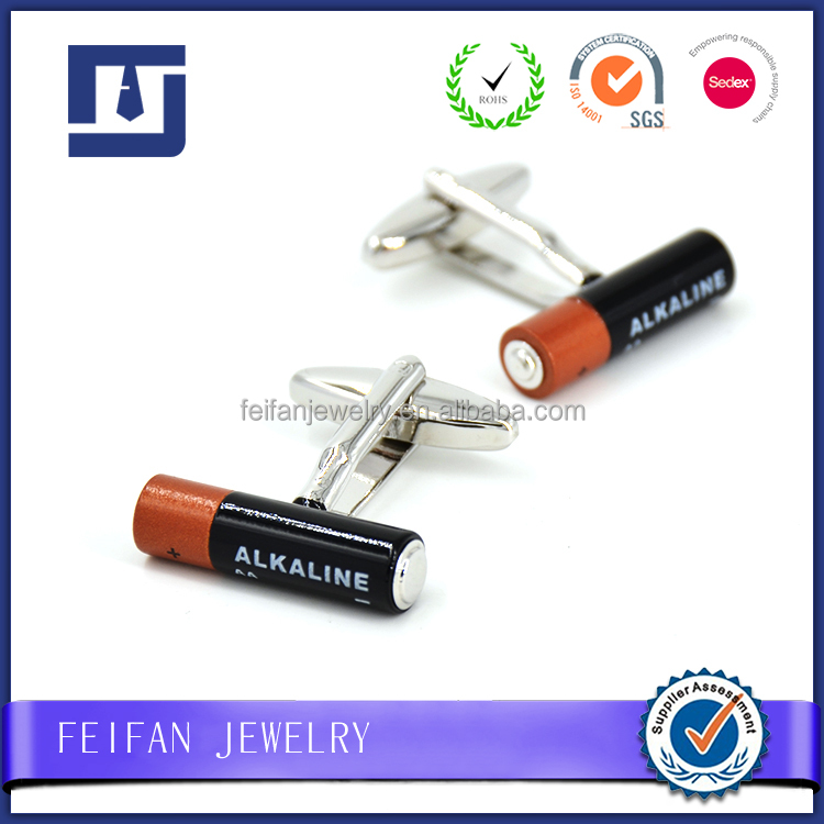 Wholesale Mens Novelty Lithium Battery Bulk Cufflinks
