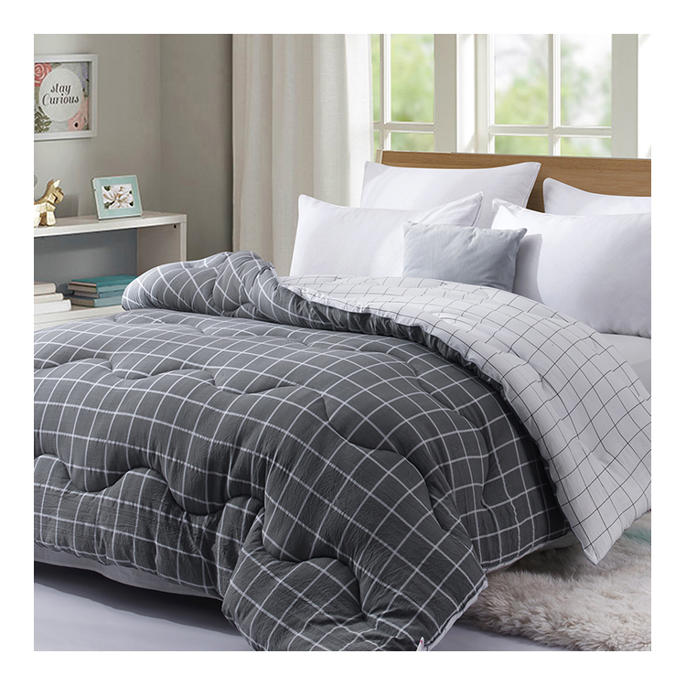 Concise Design Duck Feather Printed Quilt Summer Duvet