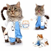 New Products For Pet Doctor Dog Costume Clothes Funny Cats Costumes Clothing For Cats
