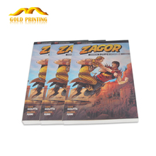 China printing factory cheap softcover comic book printing with perfect binding