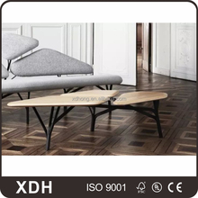 Simple style modern irregular shape wooden coffee table