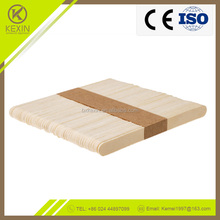 KX-Sticks 114*10*2 size custom logo brand bulking pure nature popsicle stick ice cream stick