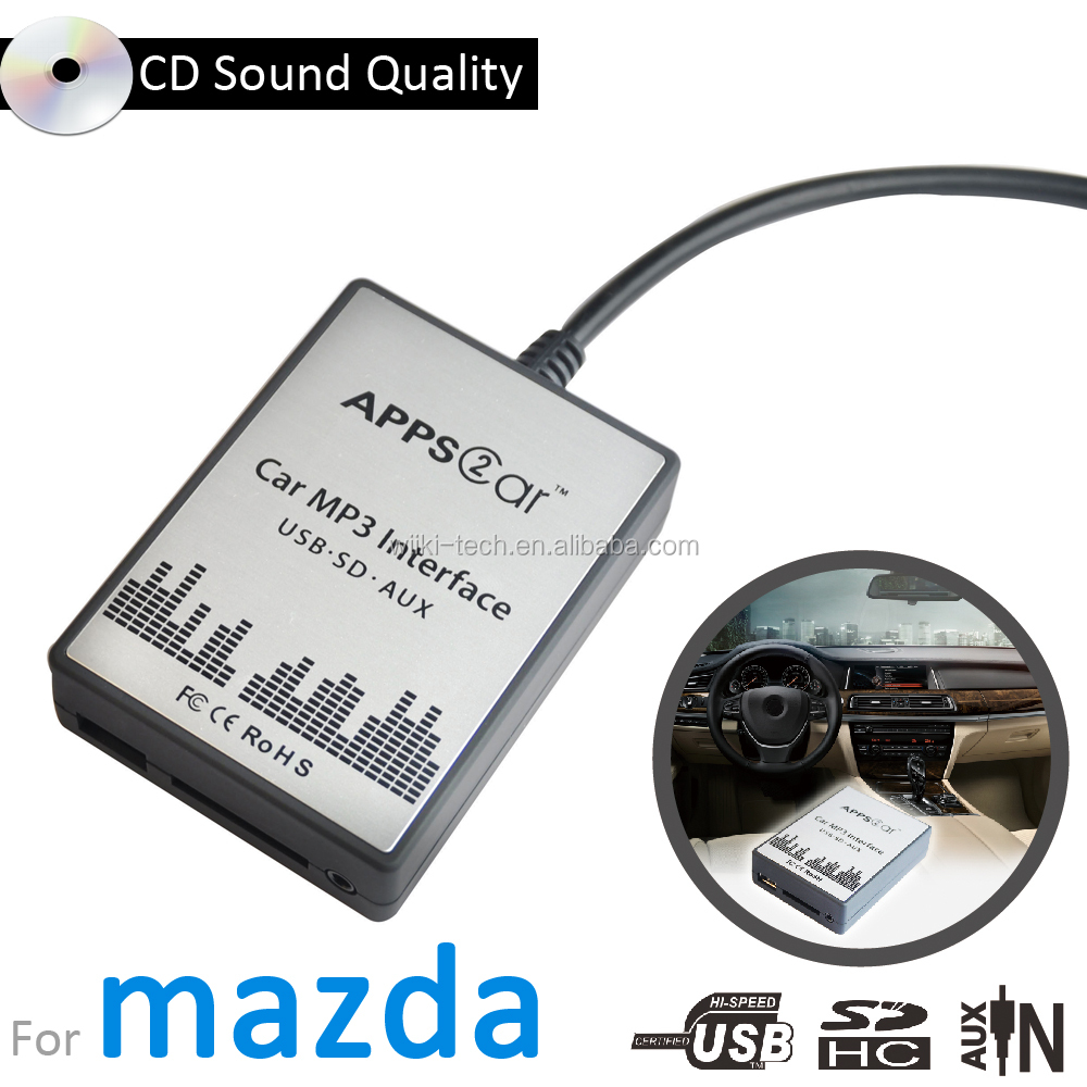 Apps2car Digital music changer car audio interface with usb sd aux for mazda 3