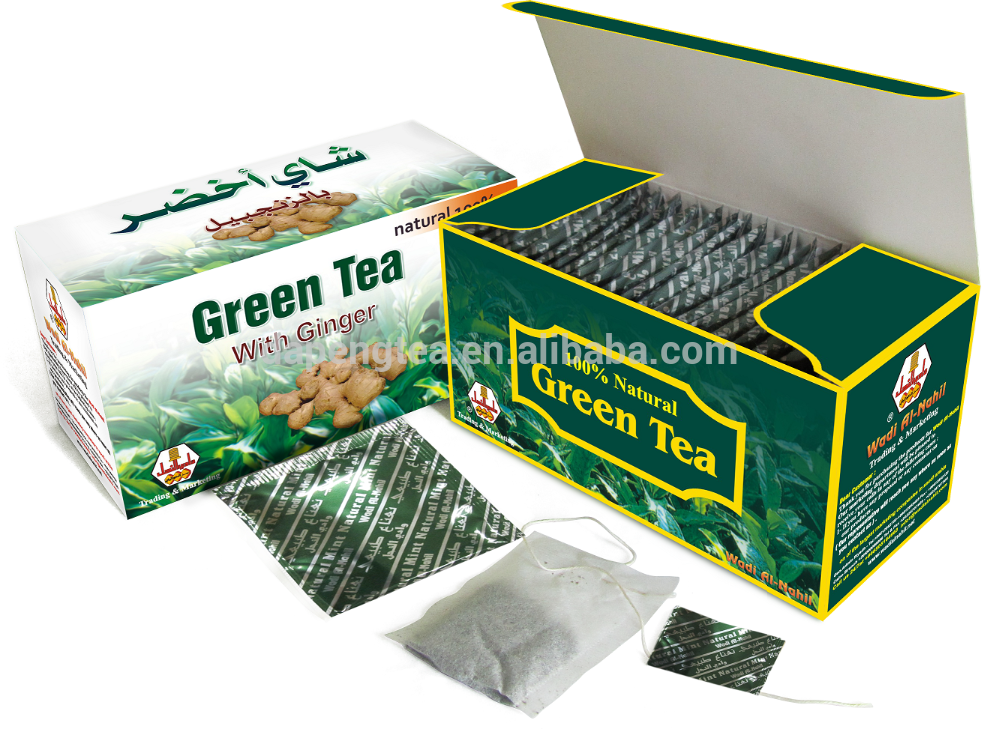 China blended organic top selling bagged green tea