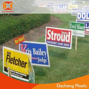 PP outdoor advertising board,yard board,PP sign board