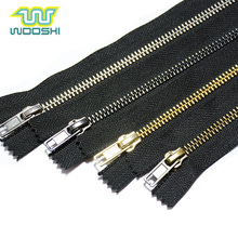 Wholesale Custom Zip YKK High Quality 5 Shoes Zipper Close-End Copper Metal Heavy Duty Zipper For Boots