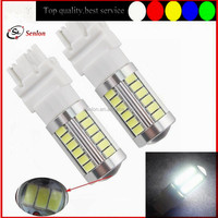 best quality white 6000K red amber car auto led turn light 3156 t25 led rear side turn light 33pcs 5630 smd