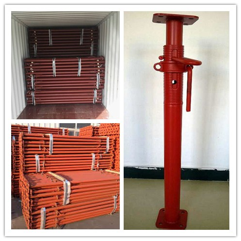 China Q235 Steel Construction Telescopic Metal Support Poles For Ceiling Support