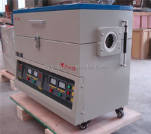 1200.c degree laboratory electric heat treatment vacuum horizontal Quartz tube furnace